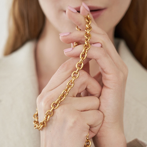 Sweet Ring Chain Strap Gold Satin 정상발송