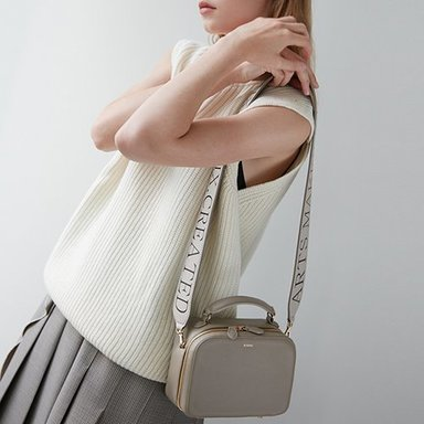 Box Bag Mini Stone-Beige