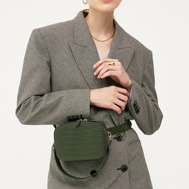 Belt Bag Crocodile Olive Green  [New 10%] (정상가 188000원)