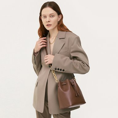 Bucket Bag Medium Cocoa Brown 일시품절