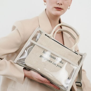 20S/S See-through Bag - Cream  [Special price 15%] 정상발송 (정상가 79000원)