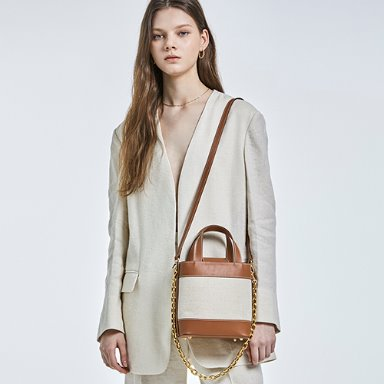 Daily Bucket Bag Ivory (Brown)  [VACATION EVENT 30%] 3차 재입고완료 (정상가 158000원)