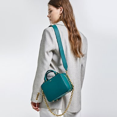 Square Bag Medium Turquoise Green  [New 10%] (정상가 258000원)