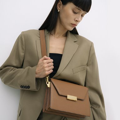 Clever Bag Medium Tan Brown  [New 15%] (정상가 318000원)