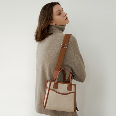 Classic Canvas Bag Small Ivory (Brown)  [New Open 10%] 입고완료 (정상가118000원)
